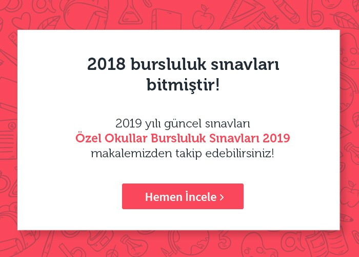Ozel Okullar Bursluluk Sinavlari 2018