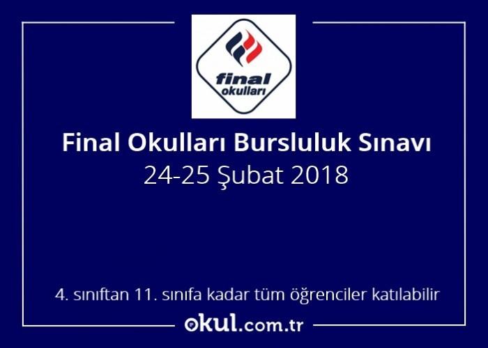 Final Okullari Bursluluk Sinavi 2018